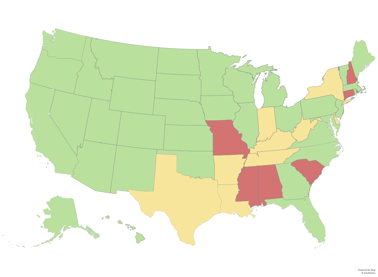 Map: How Easy is it to Vote Early in Your State?